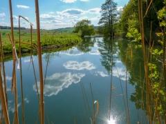 Innerste mit Wolkenspiegelung bei Heinde Mai 2011